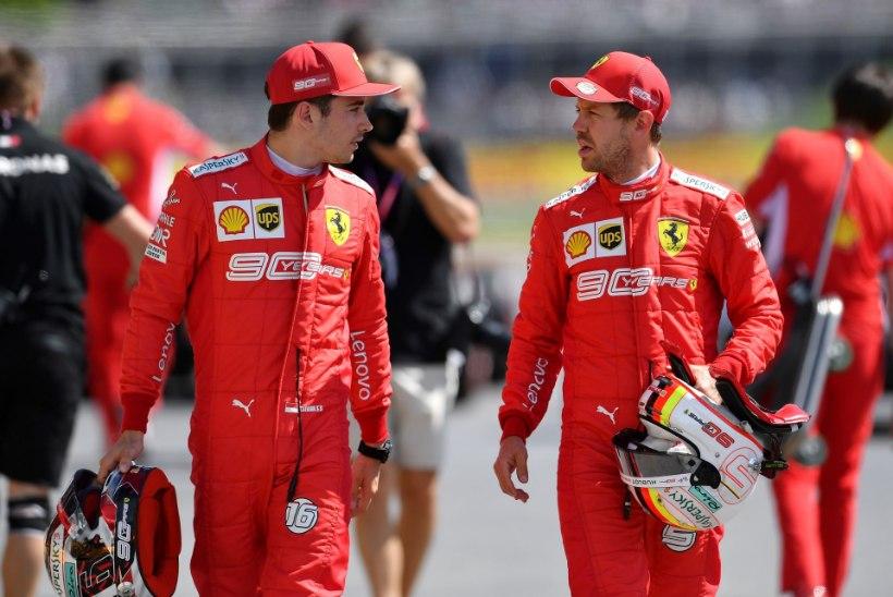 Ferrari sai Kanadas hakkama korraliku pirukaga, tiimijuht palus vabandust