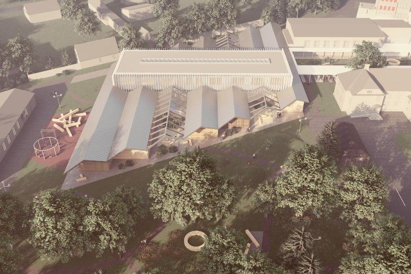 """Kärdla põhikooli arhitektuurivõistluse võitis Arhitekt Must büroo projektiga """"Asum"""""""