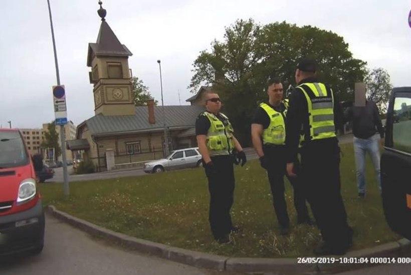 VIDEO JA FOTOD   NAGU FILMIS: mupo ja politsei ajasid Tallinnas taksojuhti taga