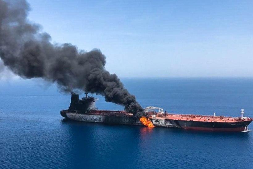 Pommid plahvatasid tankeritel Iraani ranniku lähedal