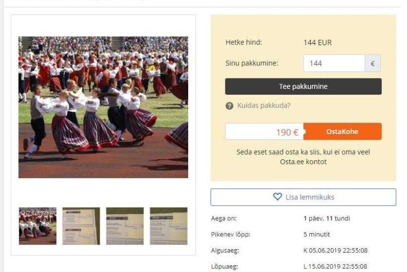 Tantsupeo etenduste piletid on oksjonikeskkonnas ulmehinnaga müügil!