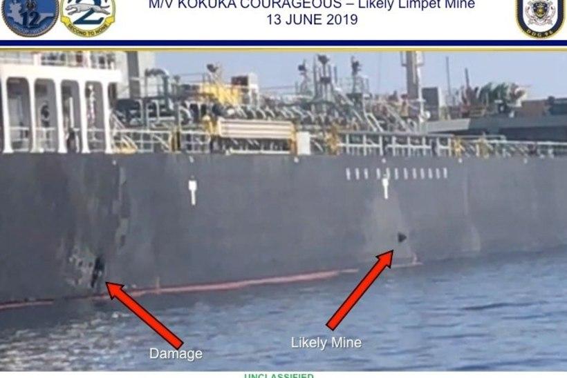 TANKERIRÜNNAKUD: USA sõnul näitab videomaterjal, kuidas Iraan ühelt aluselt miini eemaldas