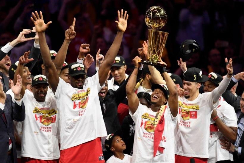 VIDEO | Ajalugu teinud Toronto Raptors krooniti NBA meistriks, Warriors sai veel ühe paugu
