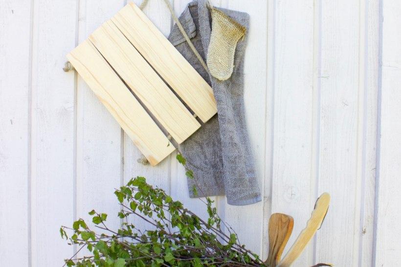Muuda saunaskäik veel mõnusamaks: meisterda kiirelt ja lihtsalt puidust istumisalus