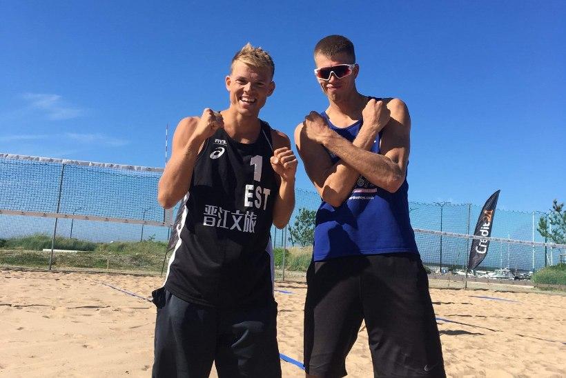 JÕUDU! Eesti rannavollepaar pääses esmakordselt EMile