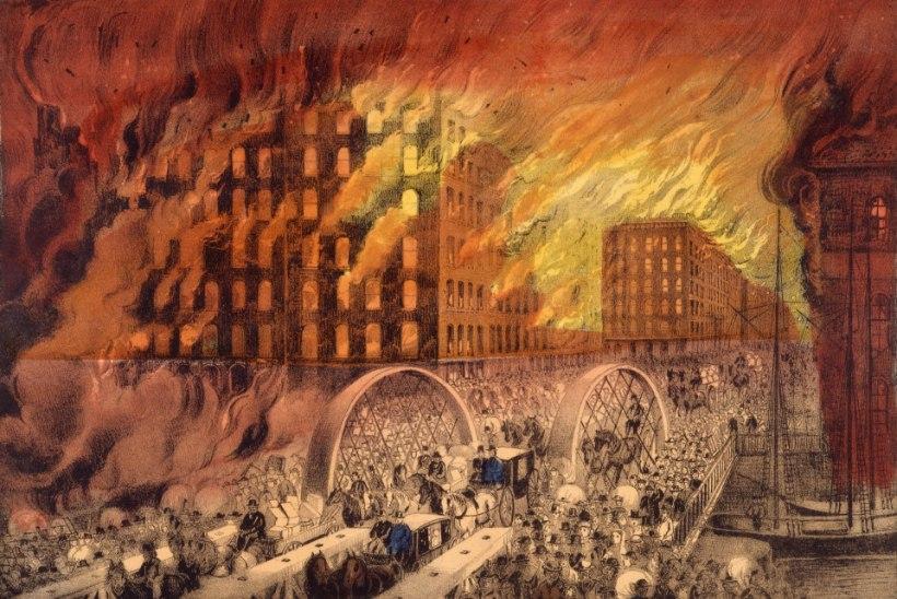 Chicagot laastas tulekahju, mis põletas linna maani maha