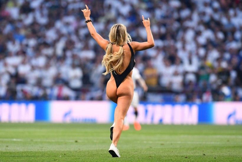 Полуголая модель прервала финал Лиги чемпионов ради свадьбы с россиянином