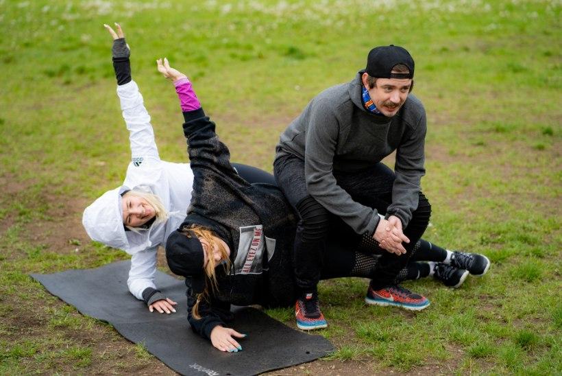 PILDID | Meelelahutajad tegid sporti, trotsides vihma ja tuult
