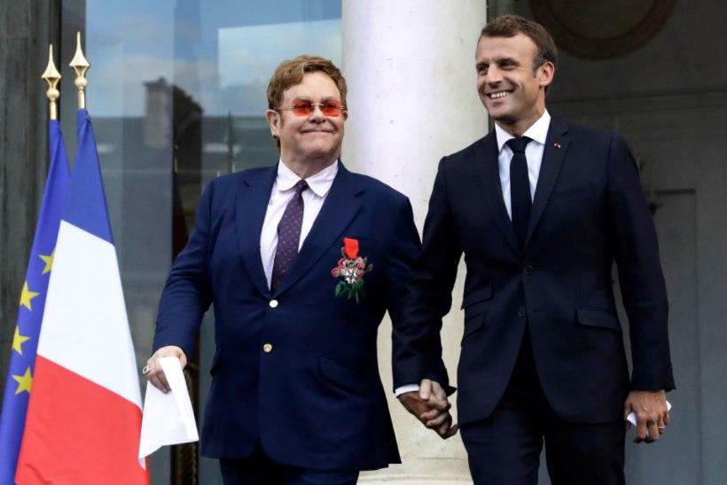 Elton John sai Prantsusmaa presidendilt riigi kõrgeima aumärgi