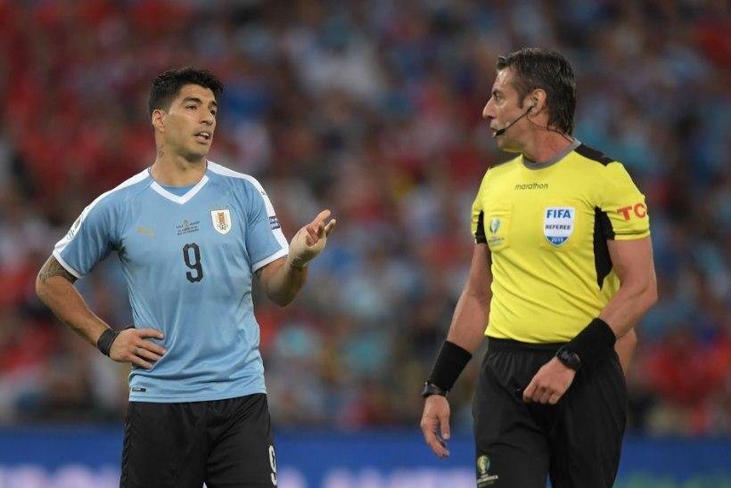 VIDEO | MIDA?! Suarez nõudis Copa Americal penaltit, sest Tšiili väravavaht tõrjus palli käega...