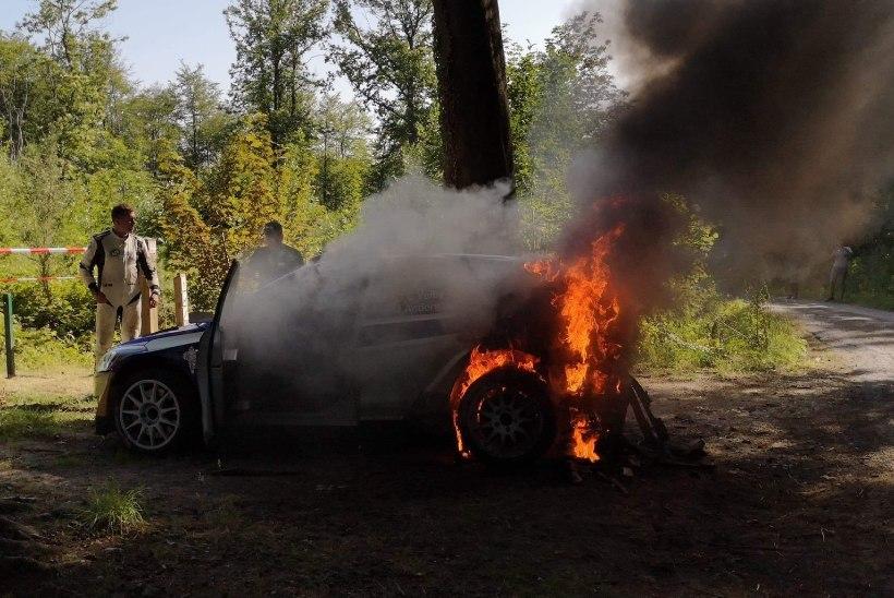 VIDEO | Norra rallisõitjal on ühe kuuga kaks autot maha põlenud...
