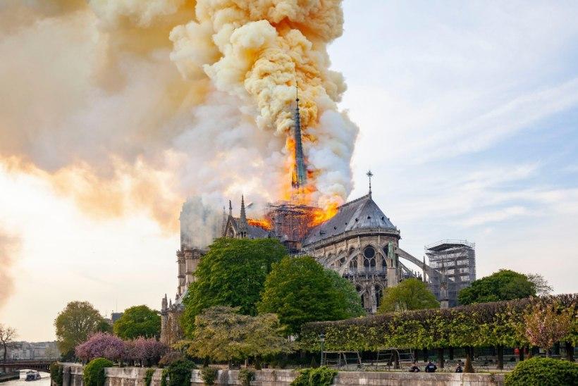 RASEDATE JA LASTE TERVIS OHUS: Pariisi Jumalaema kiriku põleng sulatas sadu tonne mürgist pliid