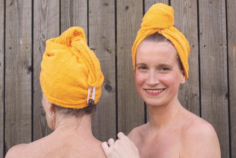 Hoolitse oma juuste eest ja peida need kuuma eest saunaturbanisse!