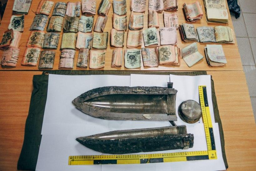 FOTOD | Pärnumaal leiti tsaariaegset raha täis mürsk