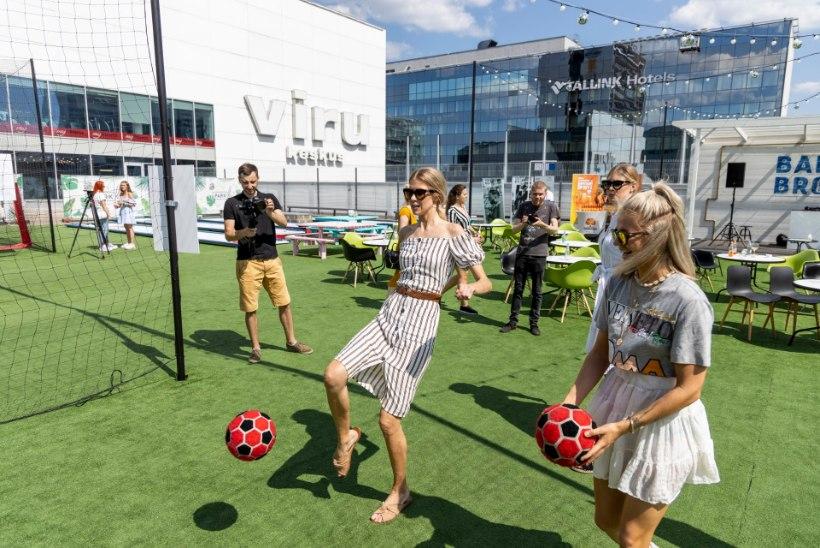 GALERII | Viru keskuse katuseterrassi avamist tähistati sportlike mängude ja särtsaka moeetendusega