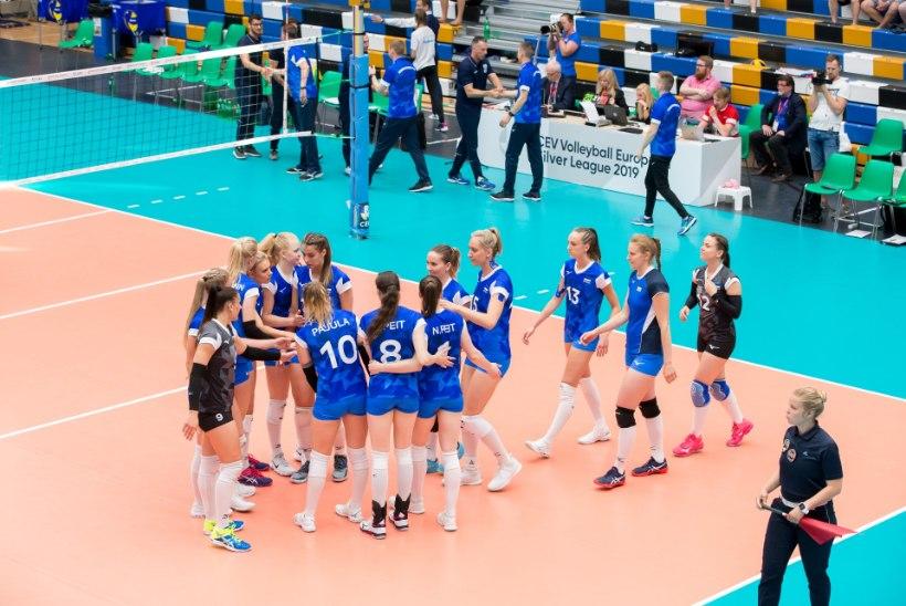 FOTOD | SUUR VÕRKPALLIPÄEV | Eesti meeskond ronis raskest seisust välja ning alistas Horvaatia, naistel nõnda hästi ei läinud
