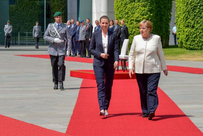 IKKAGI TERVISEHÄIRE. Värisemishoogu kartnud Angela Merkel kuulas riigihümni istudes