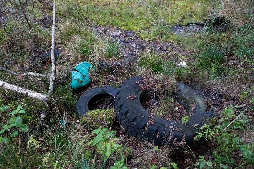 Inimesed tassivad endiselt tonnide viisi prügi metsa alla