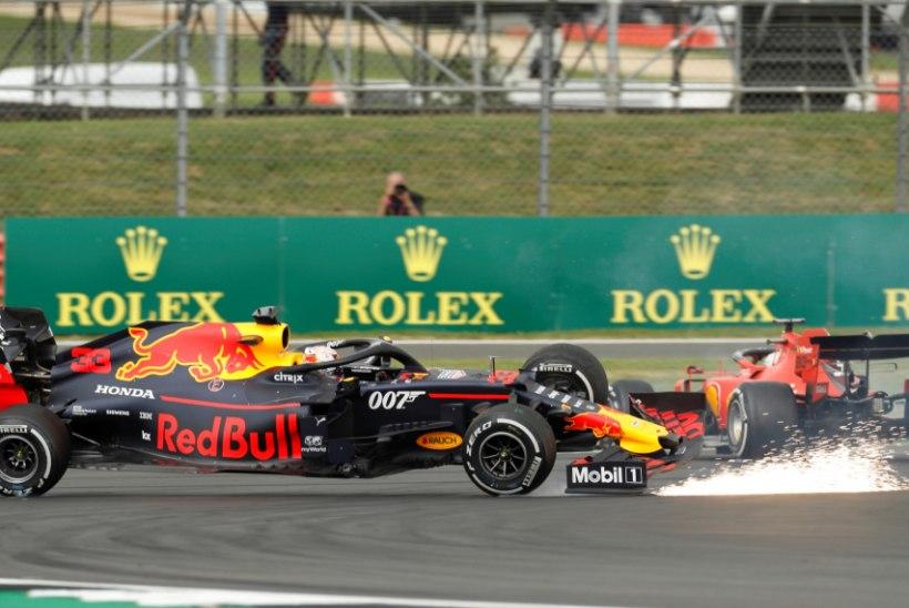VIDEO | Vettel rammis Verstappenit, Hamilton noppis rekordilise võidu