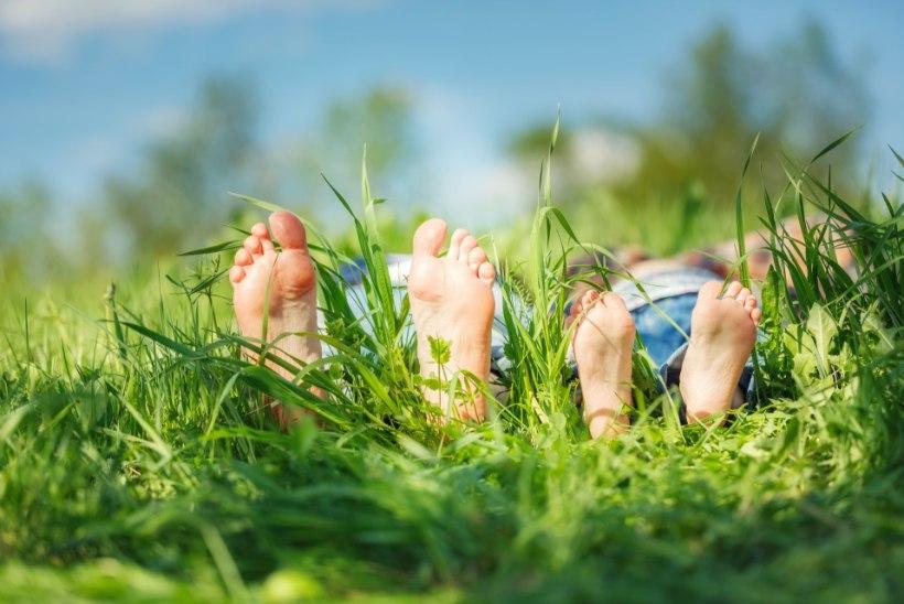 Kas ja kui palju käia suvel paljajalu?