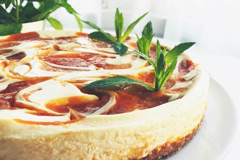 Hõrk juustukook, milles säravad mahlased ja magusad aprikoosid!