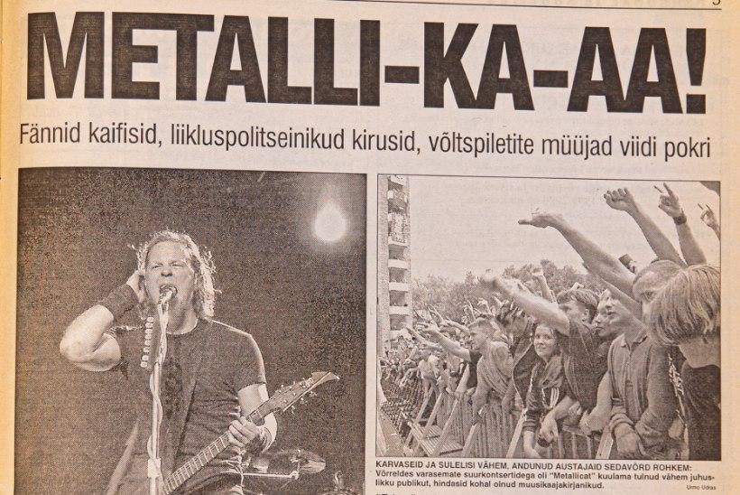 Kontserdiootuses! Meenuta, kuidas on Õhtuleht kajastanud Metallica käimist Eestis