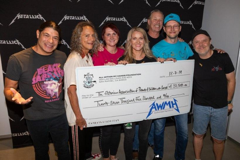 Helge südamega rokimehed: Metallica annetas lastehaiglale ja vähihaigetele lastele pea 60 000 eurot