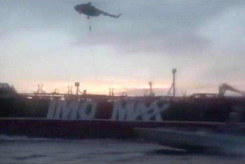 VIDEO | Vaata, kuidas maskides iraanlased Briti lipu all sõitnud tankeri hõivasid