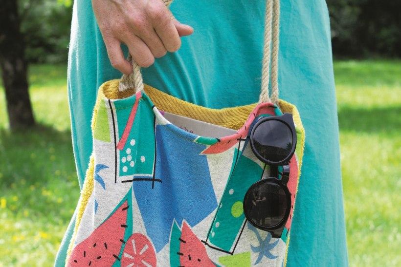 15 minuti meisterdus: rannarätik ja -kott kaks ühes