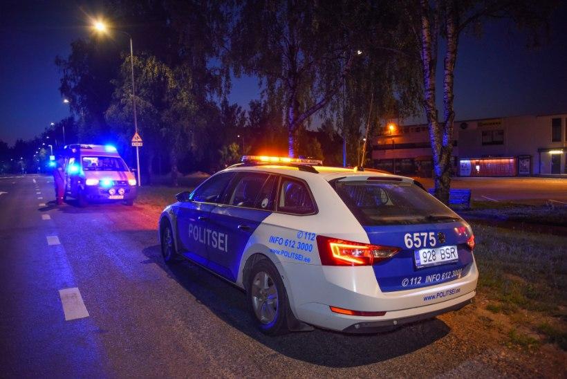 GALERII | Folgiöö tõi Viljandis kaasa kummalise avarii