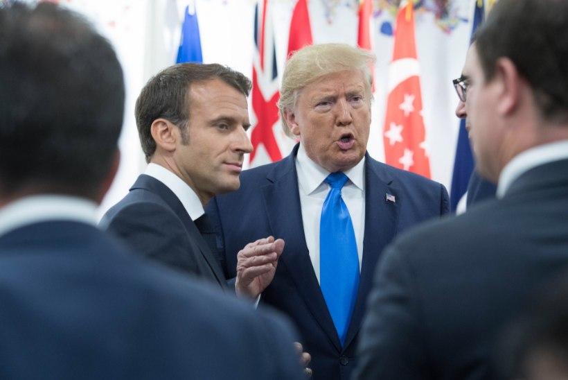 Trump on Macroni peale marus ja kuulutas, et Ameerika veinid on ilusamad kui Prantsuse omad