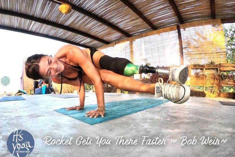 MARILYN JURMANI BLOGI | Ka ainult ühe jalaga on võimalik joogat teha