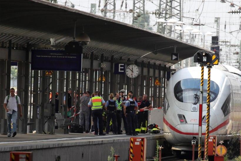 ÕUDNE: Frankfurdis lükkas aafriklane kaheksa-aastase poisi koos emaga kiirrongi ette