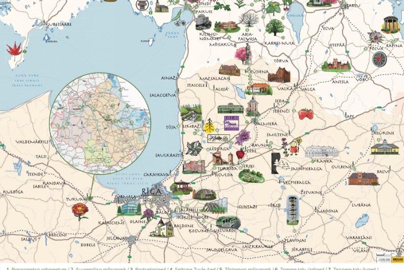 Aiad ja pargid kutsuvad külastajaid tutvumisringile Eestist Lätisse