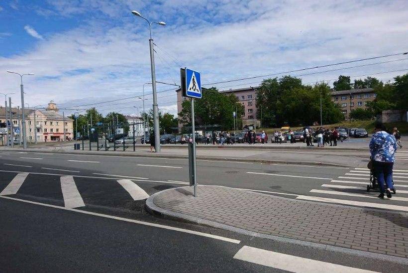 PILTUUDIS | Kuhu tramm jäi? Inimesed ootavad trammi, mis laulupeo tõttu ei sõida
