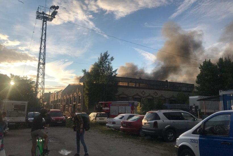 FOTOD SÜNDMUSPAIGALT | Kalamaja tööstushoones oli plahvatus. Majad värisesid ja õhku tõusis tossupilv