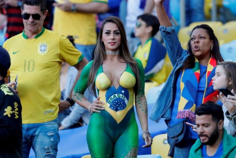 GALERII | BRASIILIA KOONDISE TÕELINE SALARELV? Meeskonna aitasid võidule seksikad naisfännid