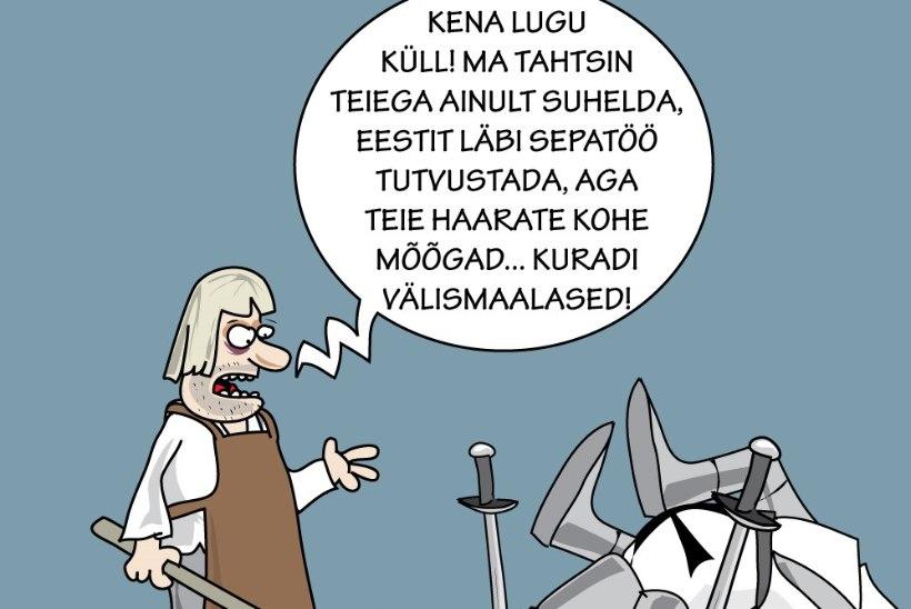 Karikatuur | Kohtumine välismaalastega