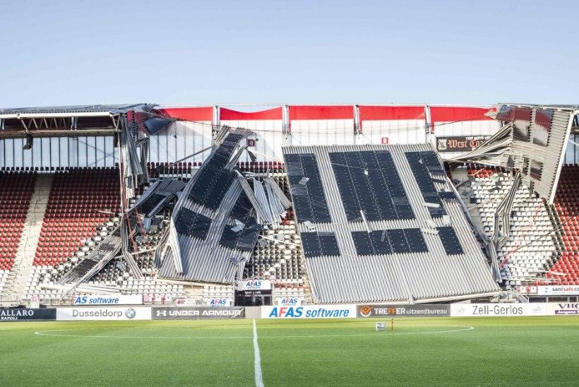 Ragnar Klavani endise klubi kodustaadioni katus kukkus kokku