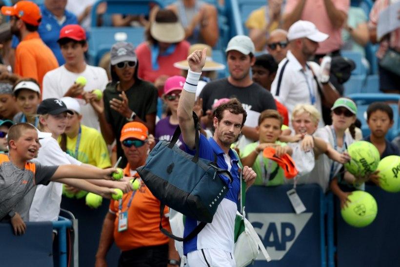 Andy Murray kaotas esimese üksikmängu pärast pikka vigastuspausi