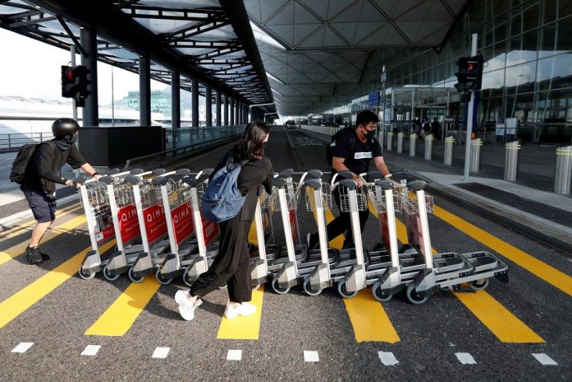 FOTOD | SEISAK: Hongkongist ei välju jälle ükski lend