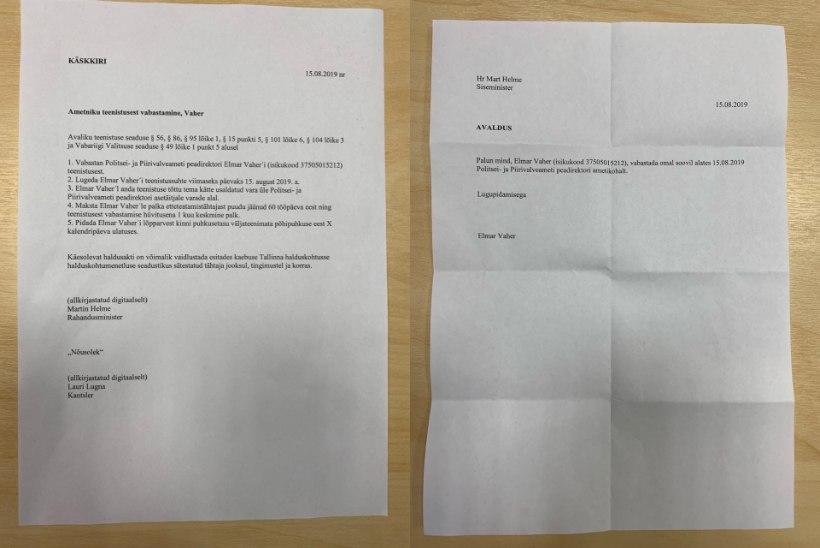 FOTO | Prokuratuur: Helme Vaherile antud paber pole võltsitud dokument