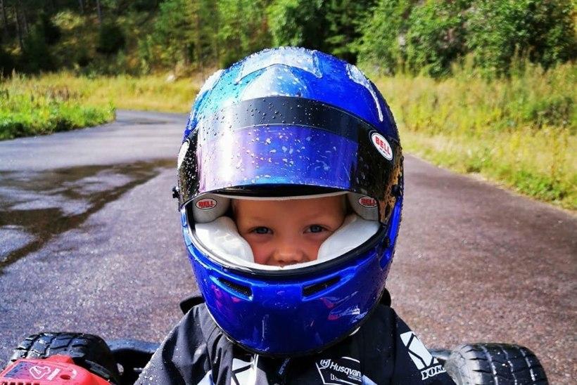VAHVA VIDEO JA FOTOD | Kimi Räikköneni neljaaastane poeg sõidab juba isa jälgedes