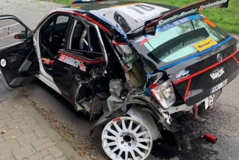 VIDEO | Vene rallisõitja tegi Tšehhis karmi avarii