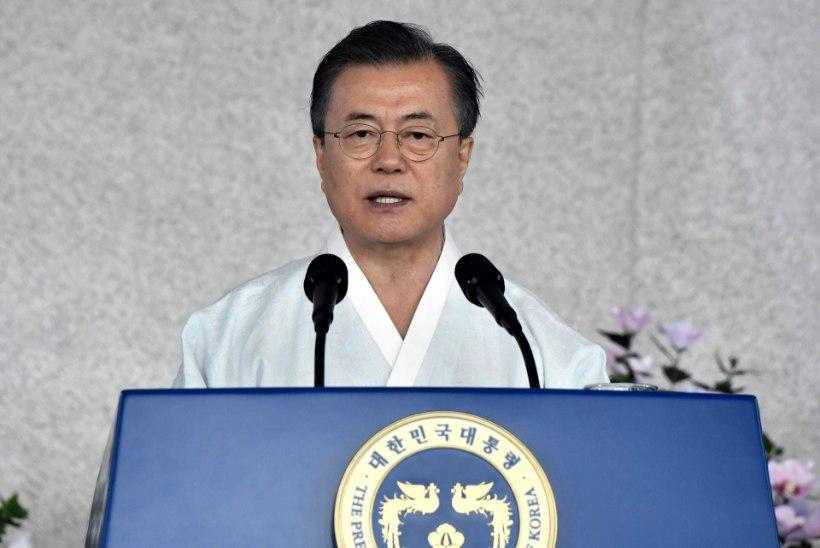 UHKE EESMÄRK: Lõuna-Korea president lubas 2045. aastaks Koread taasühendada