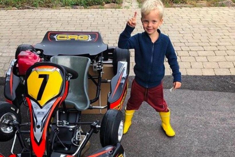 NUNNU KLÕPS! Nelja-aastane Räikkönen sai esimese sponsori