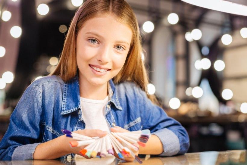MIKS TE EI RÄÄGI LASTELE OHTUDEST? Vaata pilte, kui õudseks võivad geellakk ja -küüned muuta nende käed!