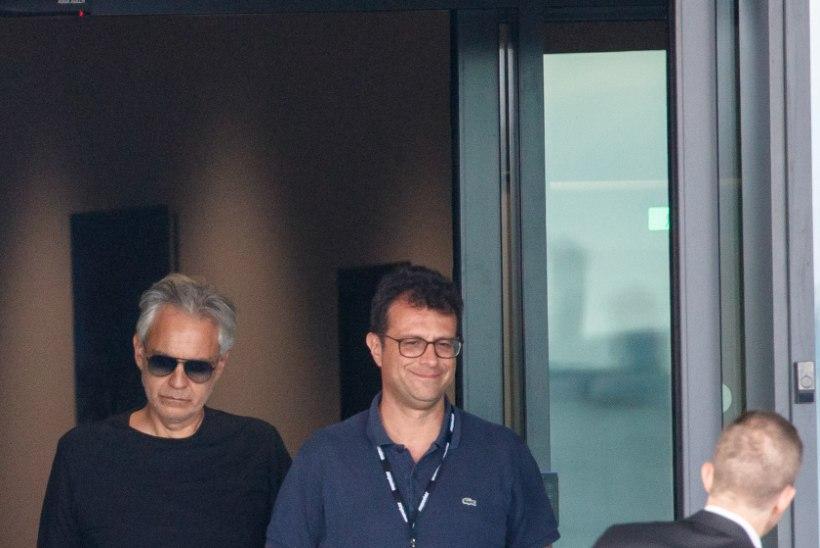 FOTOD | Andrea Bocelli saabus Tallinnasse