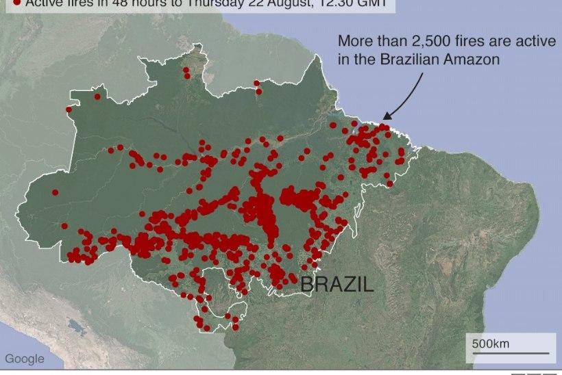 AMAZONASE TULEKAHJUD: Brasiilia saadab sõjaväe appi leeke kustutama