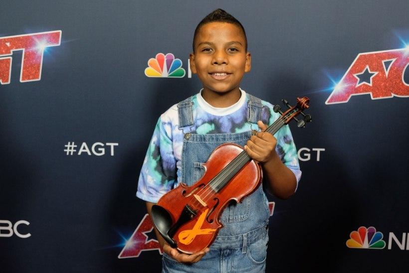 VIDEO   Vähi seljatanud poiss rokib Ameerika talendisaates viiuliga